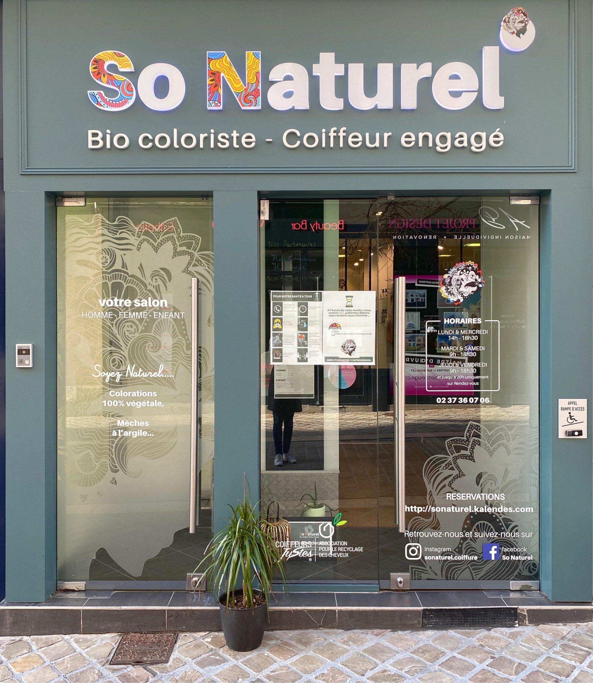 devanture de la boutique so naturel