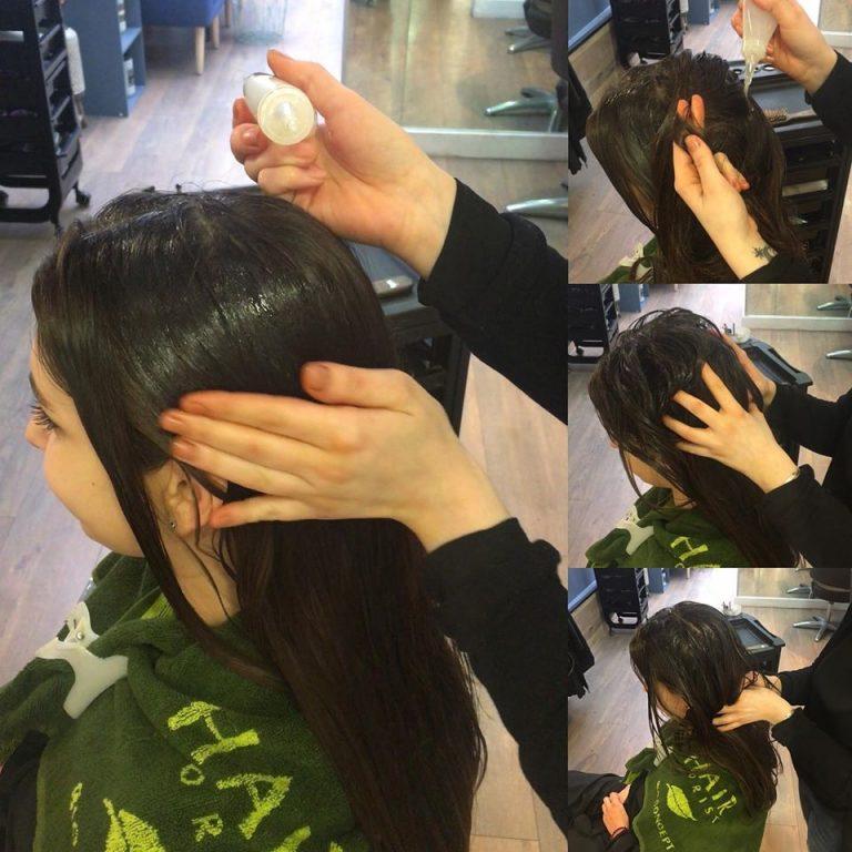 application de soin sur les dheveux